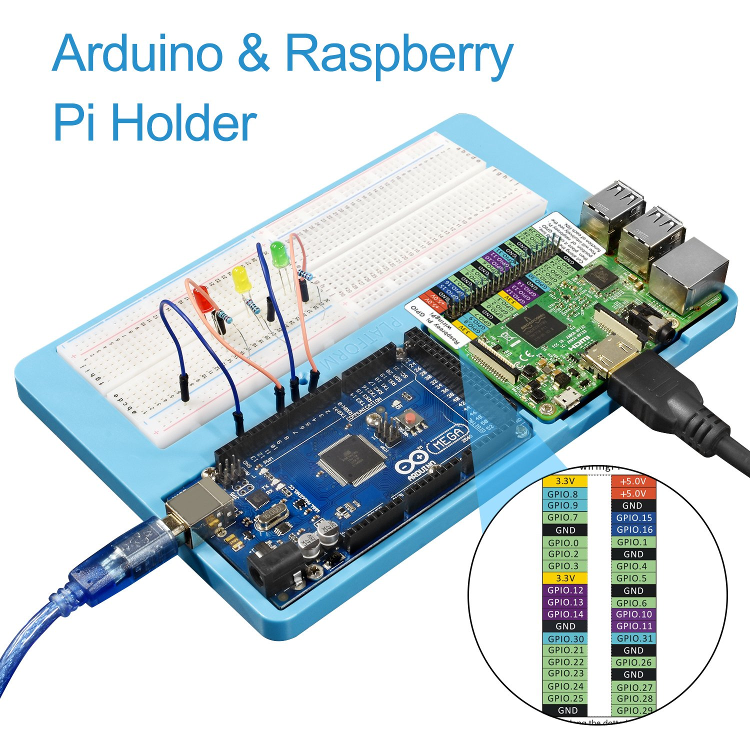 Amazon.com: UNIROI 14 in 1 Breadboard Kit with RAB Holder,830 Points ...