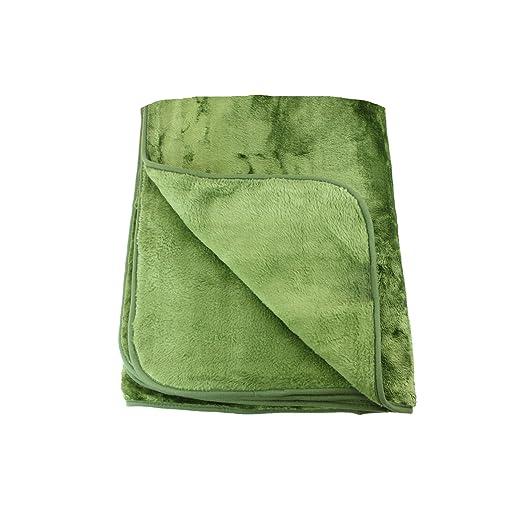 Amago Manta de sofá, Sensación de Cachemira, Verde Oscuro, 130 x 170 cm, 40024-85-1317