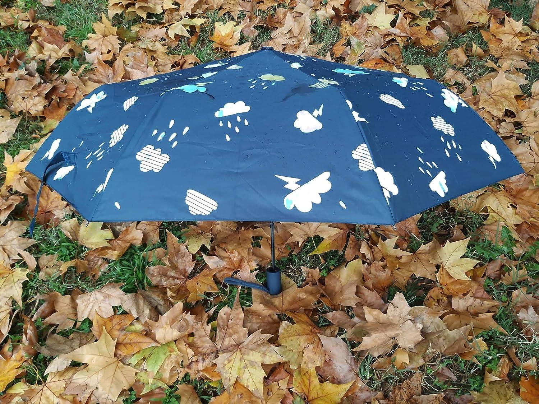 G4G Paraguas Que Cambia de Color con la Lluvia, para Mujeres ...
