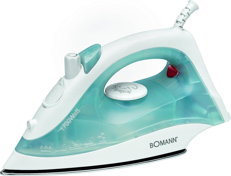 Bomann DB 785 CB Plancha de vapor, 1700 W, 135 milliliters, Acero Inoxidable, Azul y blanco