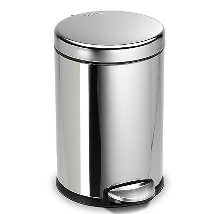 Amazon.com: Bote de basura Ronda Step, 1.2 galones: Home ...