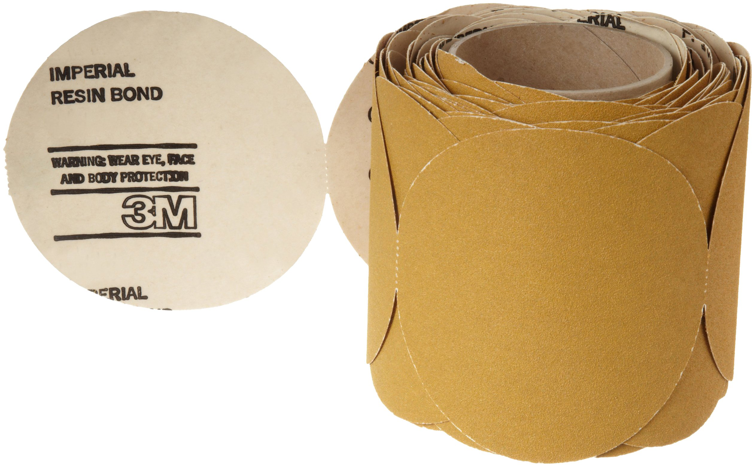 3M Stikit Paper Disc Roll 363I, PSA Attachment, Aluminum Oxide, 6'' Diameter, 60 Grit, Gold (Roll of 100)