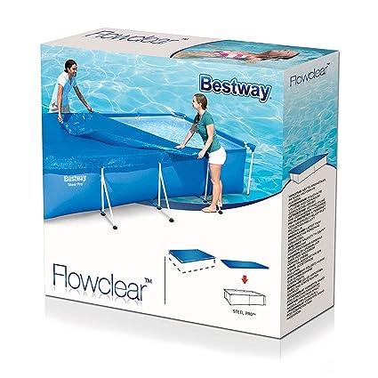 Amazon.com: Bestway 118 x 79 Above Ground Swimming Pool Tarp ...