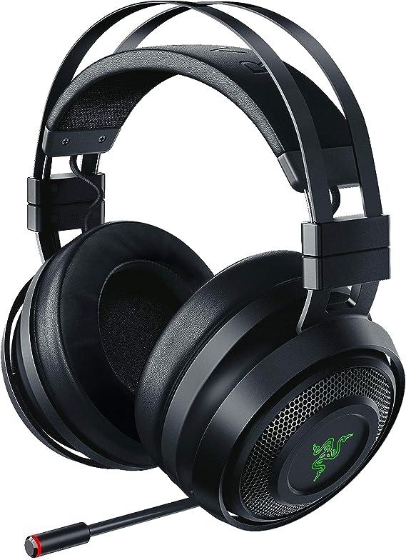 Razer Nari Wireless 7.1 Surround Sound Gaming Headset: THX Audio - Auto-Adjust Headband & Swivel Cups - Chroma RGB - Retractable Mic - For PC