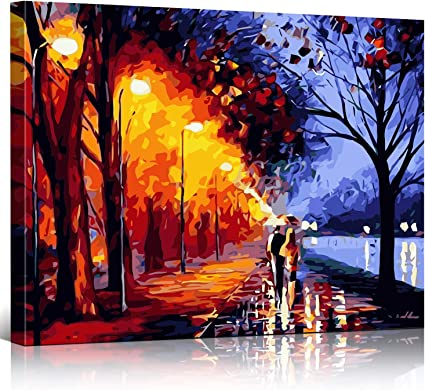 16 x 20 inch Without Frame DIY Paint by Number Kits for Adults Canvas Oil Painting Set Beginner with Brushes and Acrylic Pigment