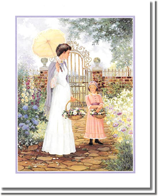 Print Photograph Flower Garden Wall Decor 10x8 Blue Door Poster Art Picture