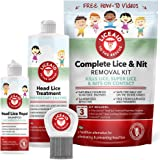 Head Lice Treatment Kit - Everything You Need to Eliminate Lice & Their Eggs - Includes Enzymes, Shampoo, Comb & More…