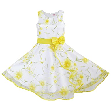 00375a637f05 DB85 3 Layers Girls Dress Sunflower Wave Pageant Bridesmaid Kids ...