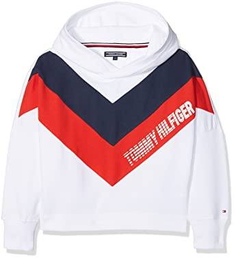 5ec0ebb8 Tommy Hilfiger Girl's Alert Color Block Hoody (Bright White 123), ...