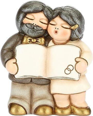 Bomboniere Thun Matrimonio.Thun Coppia Sposi Nozze D Oro Con Pergamena Bomboniere