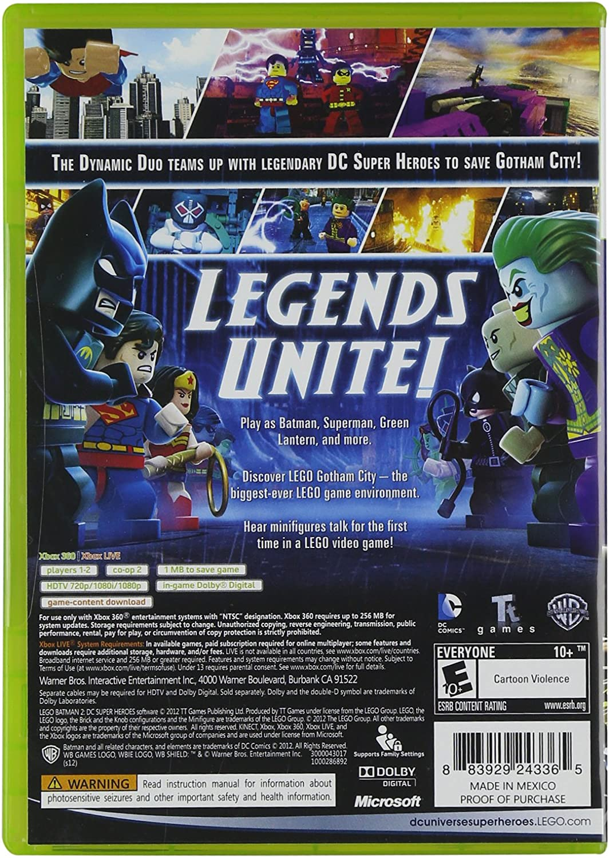 Amazon Com Lego Batman 2 Dc Super Heroes Xbox 360 Whv Games Video Games