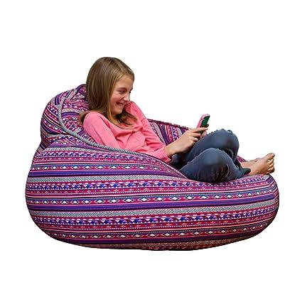 Astounding Amazon Com The Pod Bean Bag Chair Aztec Kitchen Dining Machost Co Dining Chair Design Ideas Machostcouk