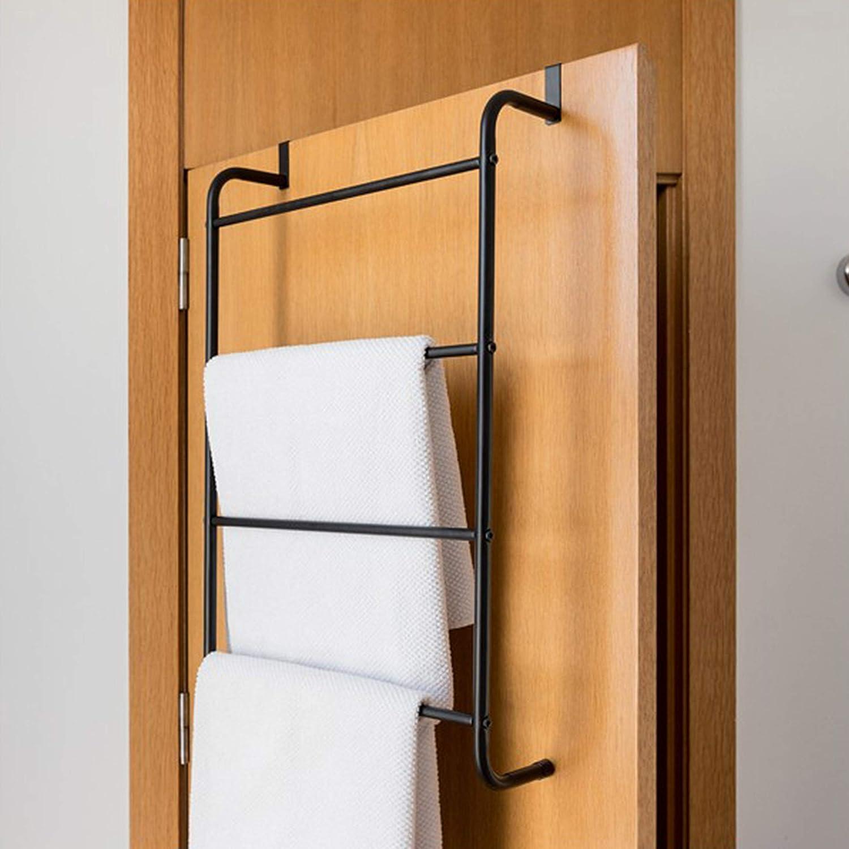 Geezy Over The Door Hanging Towel Rail Modern Bathroom Towel Rack Holder With 4 Bars Amazon Co Uk Kitchen Home