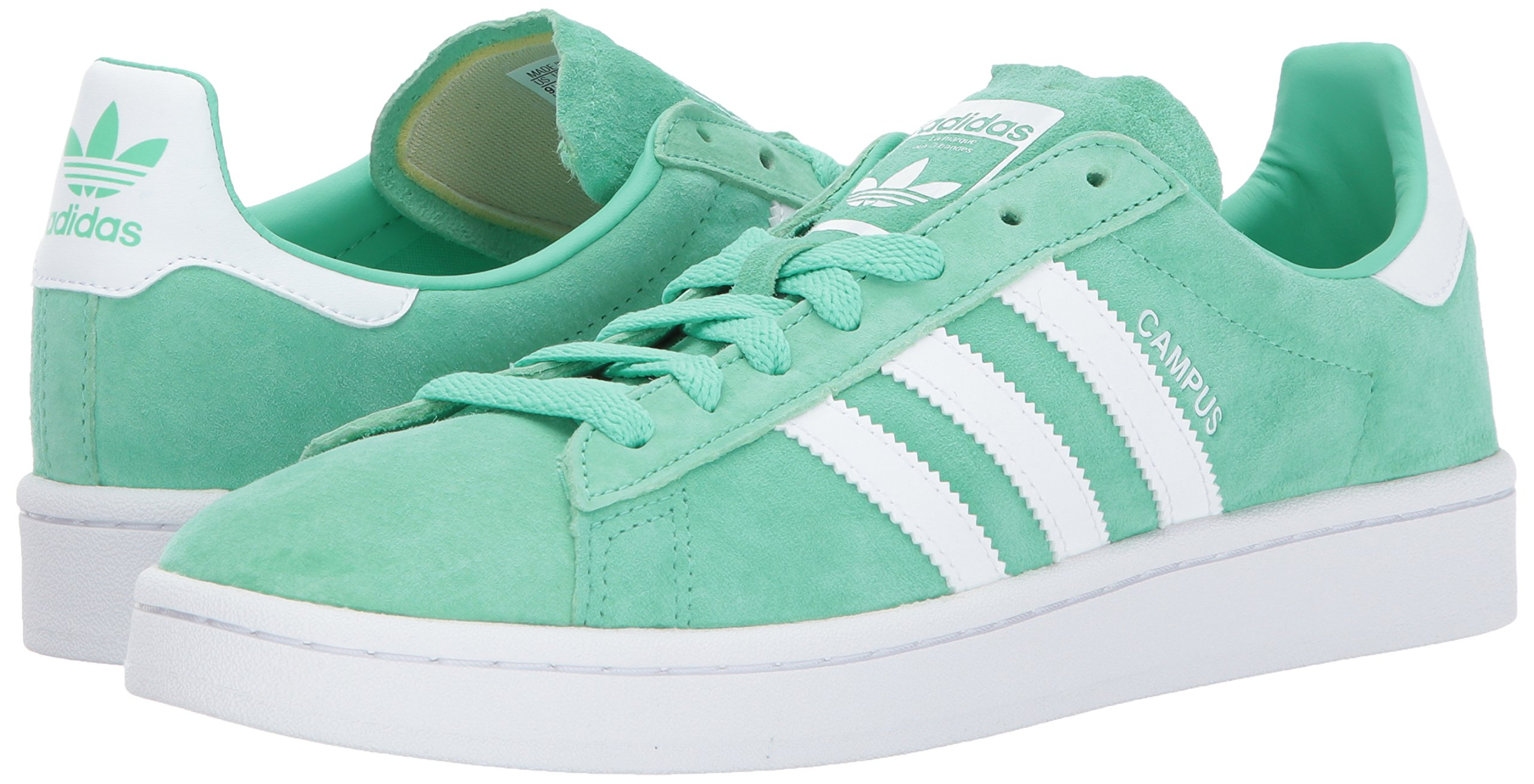 adidas Originals Men's Campus Sneakers -, Green Glow Crystal White, (11 M US) by adidas Originals (Image #6)
