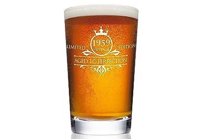 1959 60th Birthday Beer Pint Glass For Men Or Women