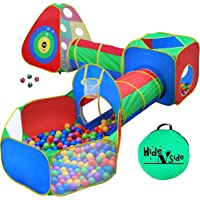 5pc Kids Ball Pit Tents and Tunnels, Toddler Jungle Gym Play Tent with Play Crawl Tunnel Toy, for Boys babies infants…