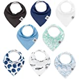 "Parker Baby Bandana Drool Bibs 8 Pack Baby Bibs for Boys, Girls, Unisex -""Arctic Set"""