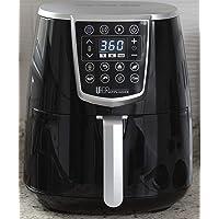 Uber Appliance XL High Power Oven Kitchen Appliances-Best Seller Large Air Fryer 5 Qt Digital Display with 8 Pre-Set Functions, 5 quart, Black