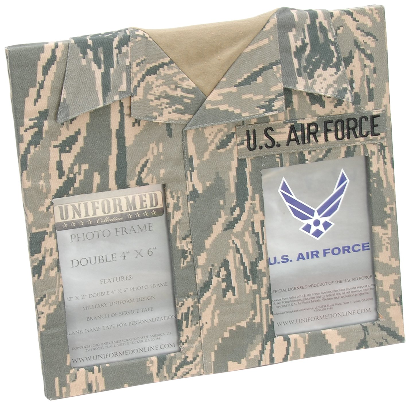 Uniformed ACUfrm12 U.S. Air Force ABU Double Frame, 4 by 6-Inch