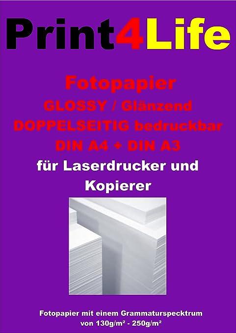 100 hojas A4 160g / m² papel fotográfico CARA para impresoras ...