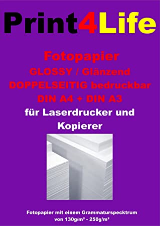 100 hojas A4 130g / m² papel fotográfico CARA para ...
