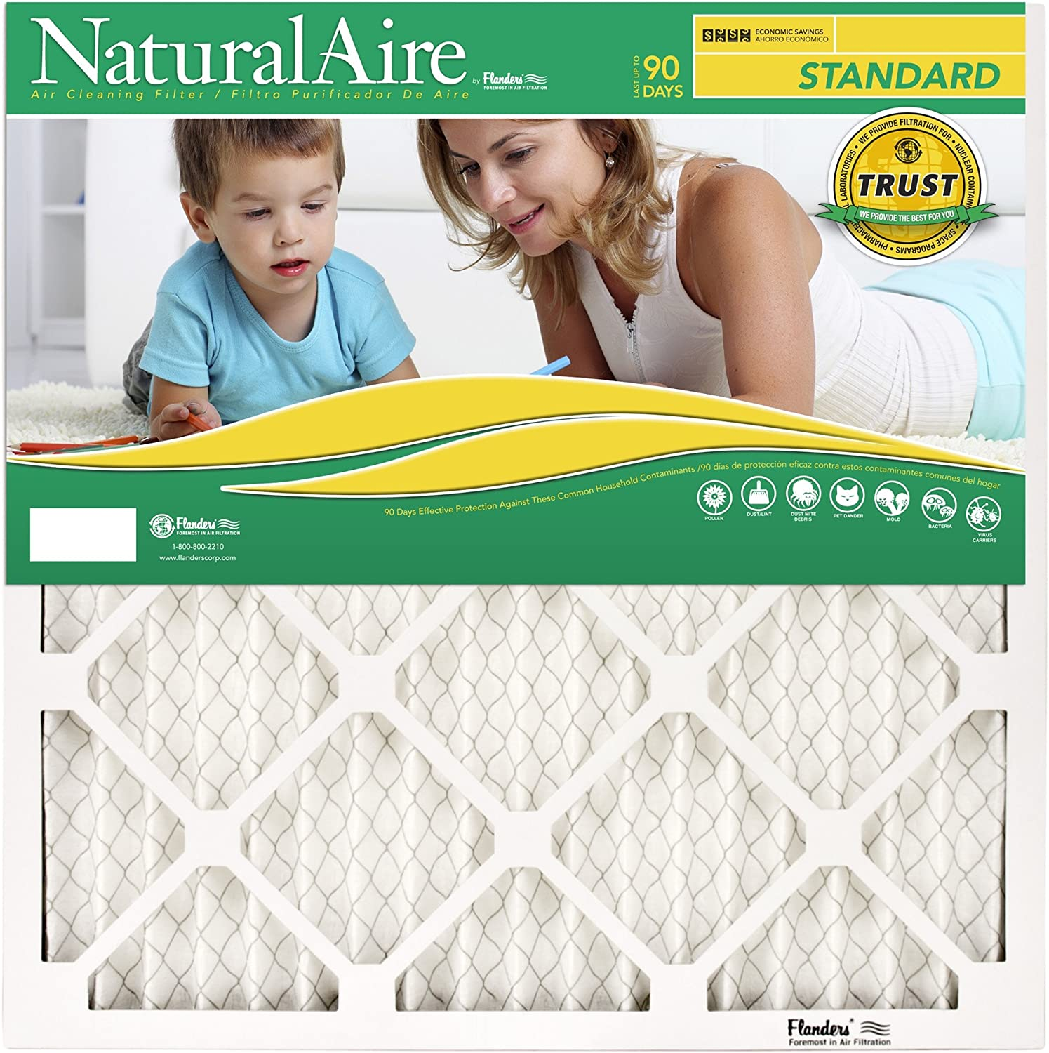 NaturalAire Standard Air Filter, MERV 8, 18 x 30, 1-inch, 12-Pack