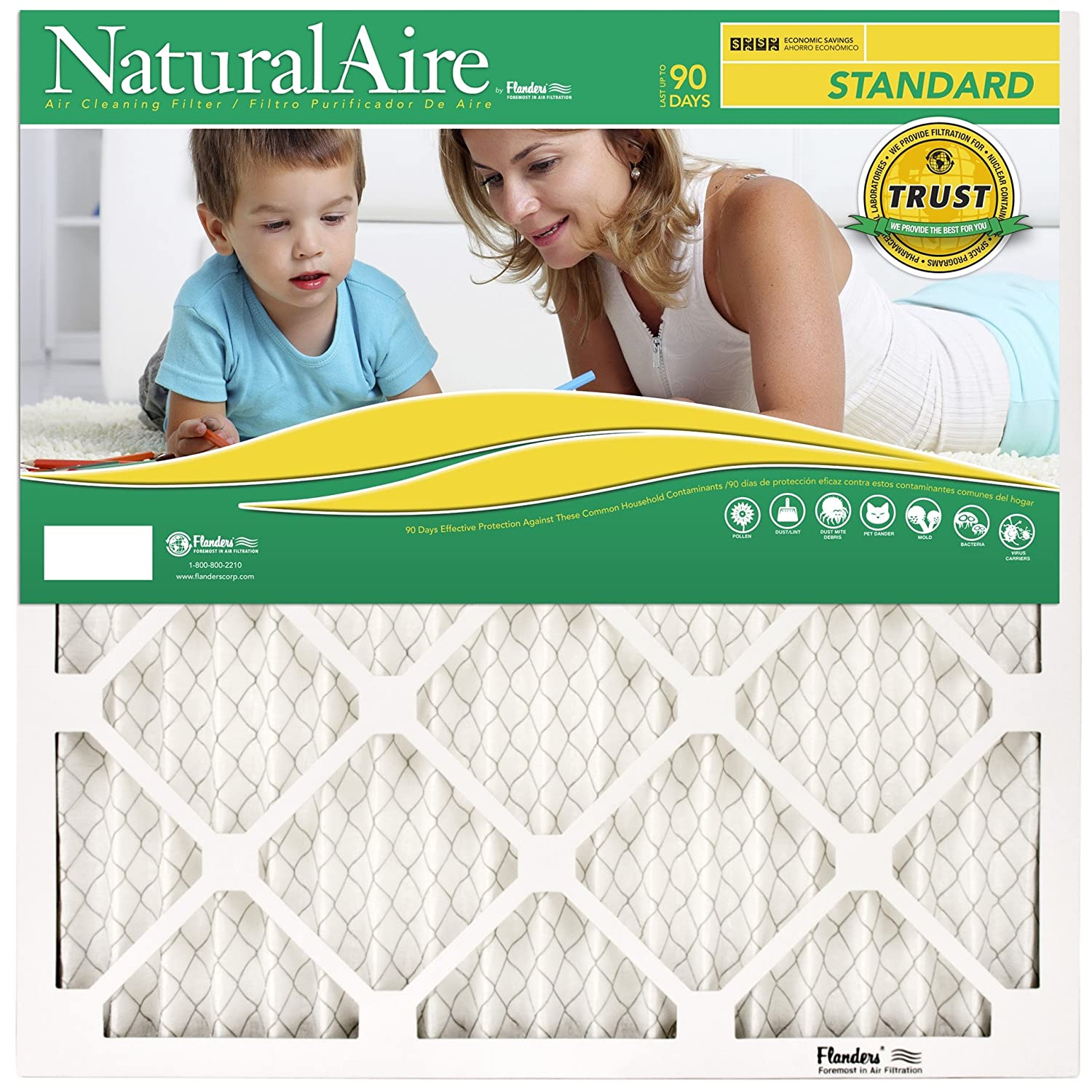 NaturalAire Standard Air Filter, MERV 8, 12 x 36, 1-inch, 12-Pack