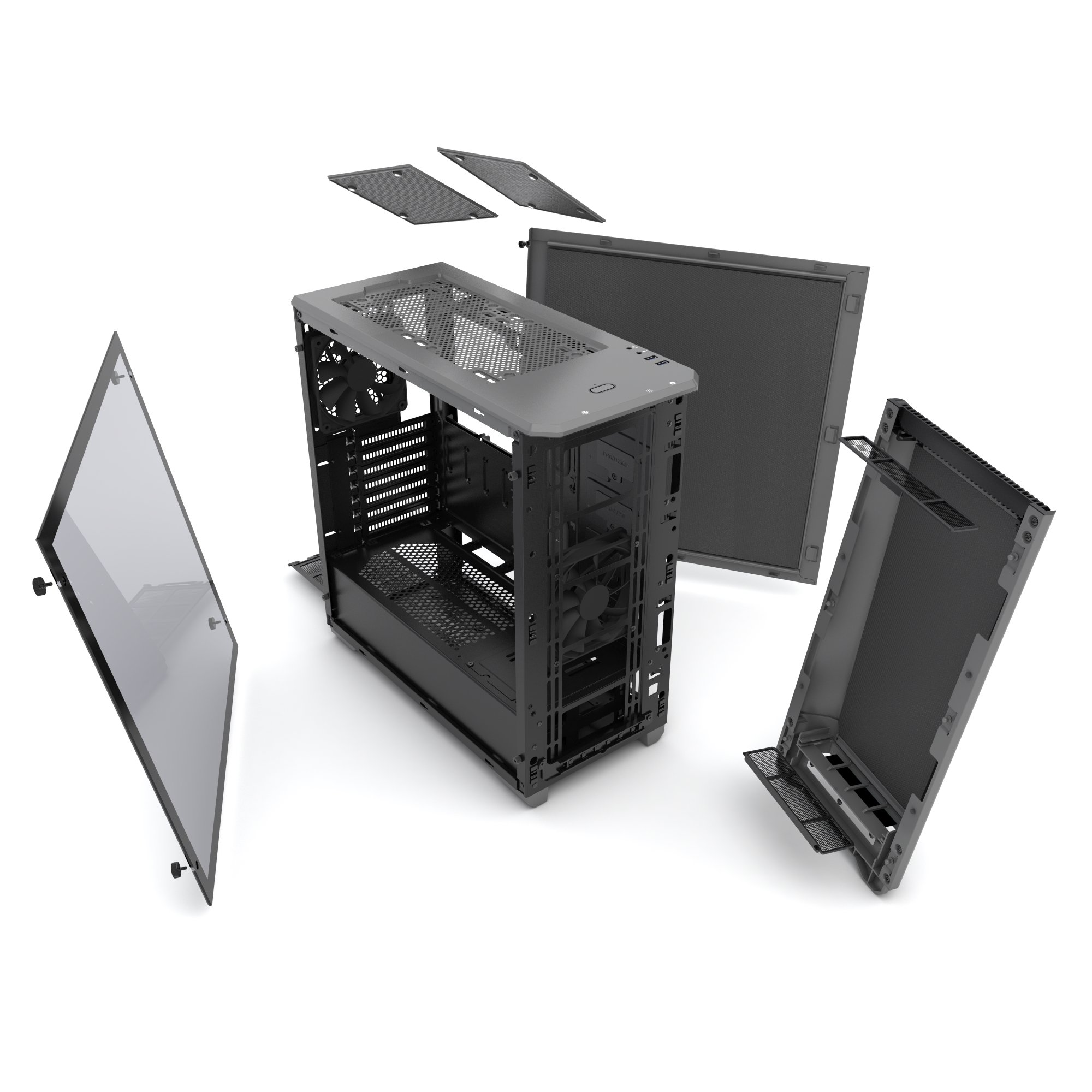 Phanteks PH-EC416PSTG_AG Eclipse P400S Silent Edition with Tempered Glass, Anthracite Grey Cases by Phanteks (Image #11)