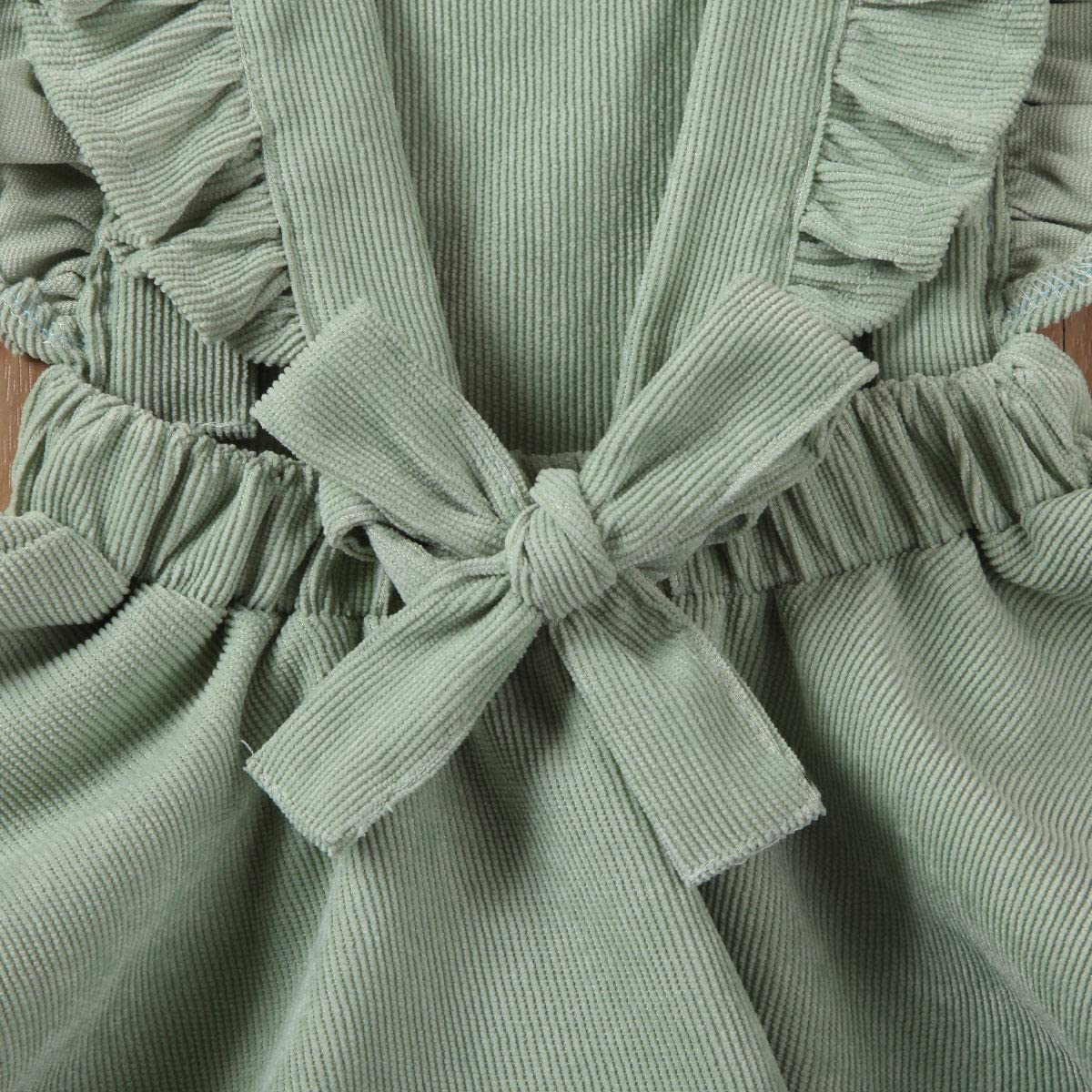 LuLuBaby Toddler Baby Girl Ruffle Sleeveless Overall Dress Princess Suspender Skirt Outfit