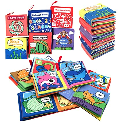 Amazon Com Cloth Book For Baby Soft Activity Books For Baby