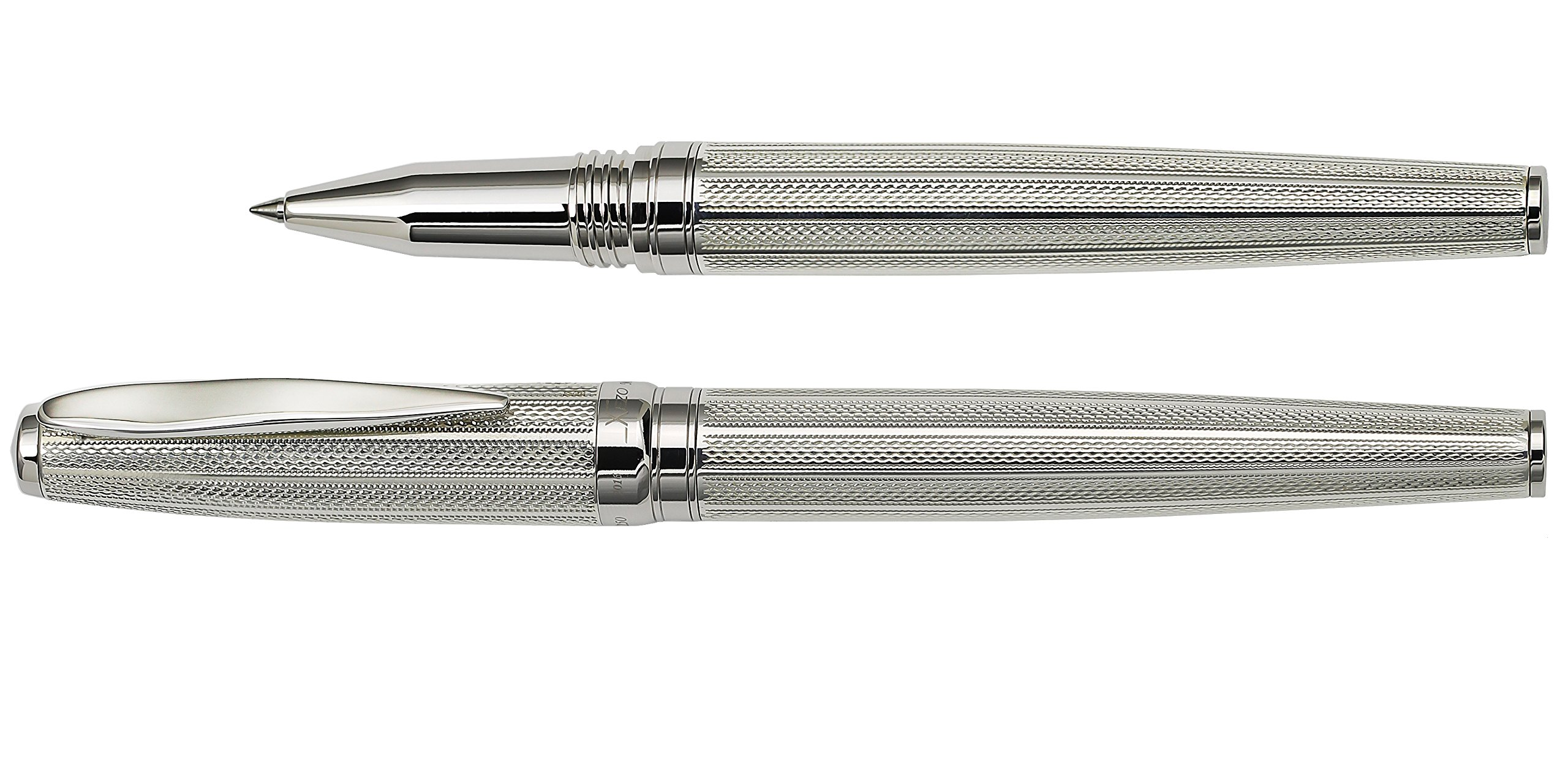 Xezo Solid 925 Sterling Silver Serialized Fine Rollerball Pen with Screw-On Cap (Maestro 925 Sterling Silver R-1) by Xezo (Image #6)