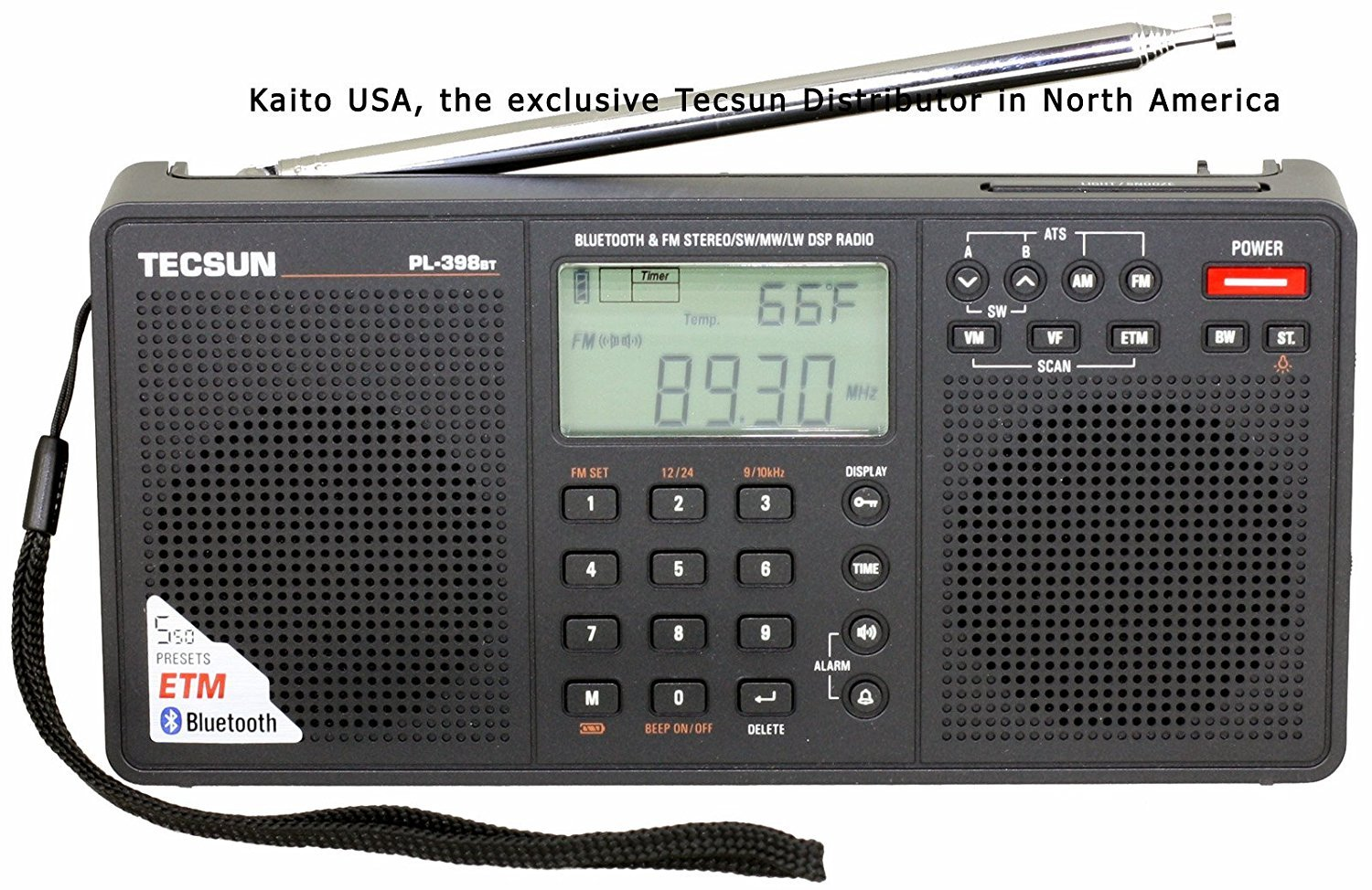 Portable FM stereo //MW //SW DSP Radios World Band Receiver  Sound Alarm HOT