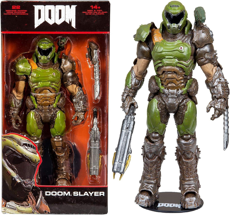 McFarlane Toys Doom Doom Slayer Figura de acción Premium de 7 ...