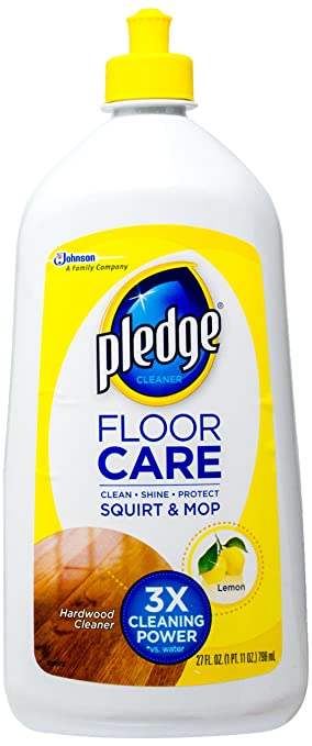 Johnson Wax 81316 Pledge Wood Floor Cleaner 27 Oz.   Case Of 6