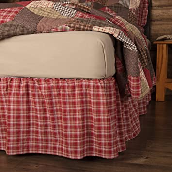 VHC Brands Vhc Brands Tacoma Tumbling Block King Bed Skirt 78x80x16
