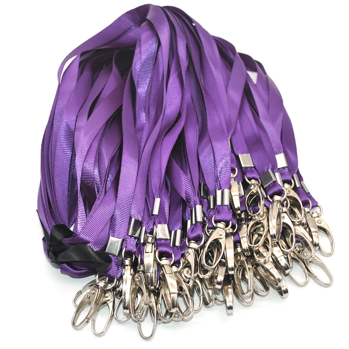 Warmter 50 Pack Lanyard Badge Lanyards For ID Name Tags and Badge Holders (Purple)