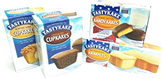 product image for Tastykake Snack Cakes Philadelphia Favorites Pack | 4 Boxes | Butterscotch Krimpets, Peanut Butter Kandy Kakes, Chocolate Cupcakes, Cream Filled Koffee Cupcakes, 3 Pack