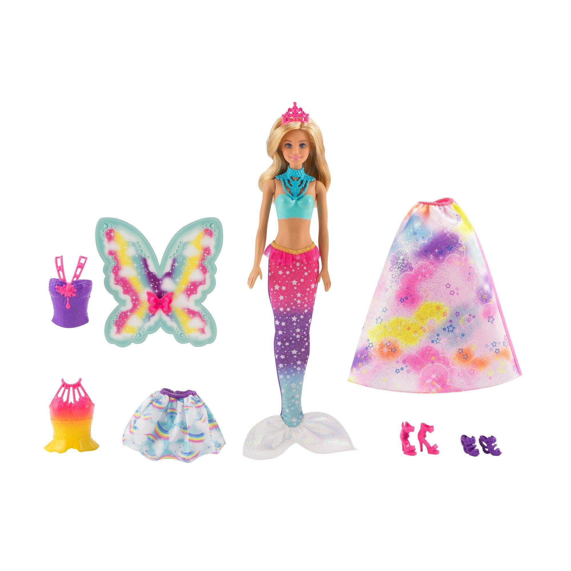 Barbie Dreamtopia Rainbow Cove Fairytale Dress Up Set, Blonde