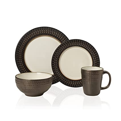 Gourmet Basics by Mikasa Avery 16 Piece Dinnerware Set (Set of 4) Assorted  sc 1 st  Amazon.com & Amazon.com | Gourmet Basics by Mikasa Avery 16 Piece Dinnerware Set ...