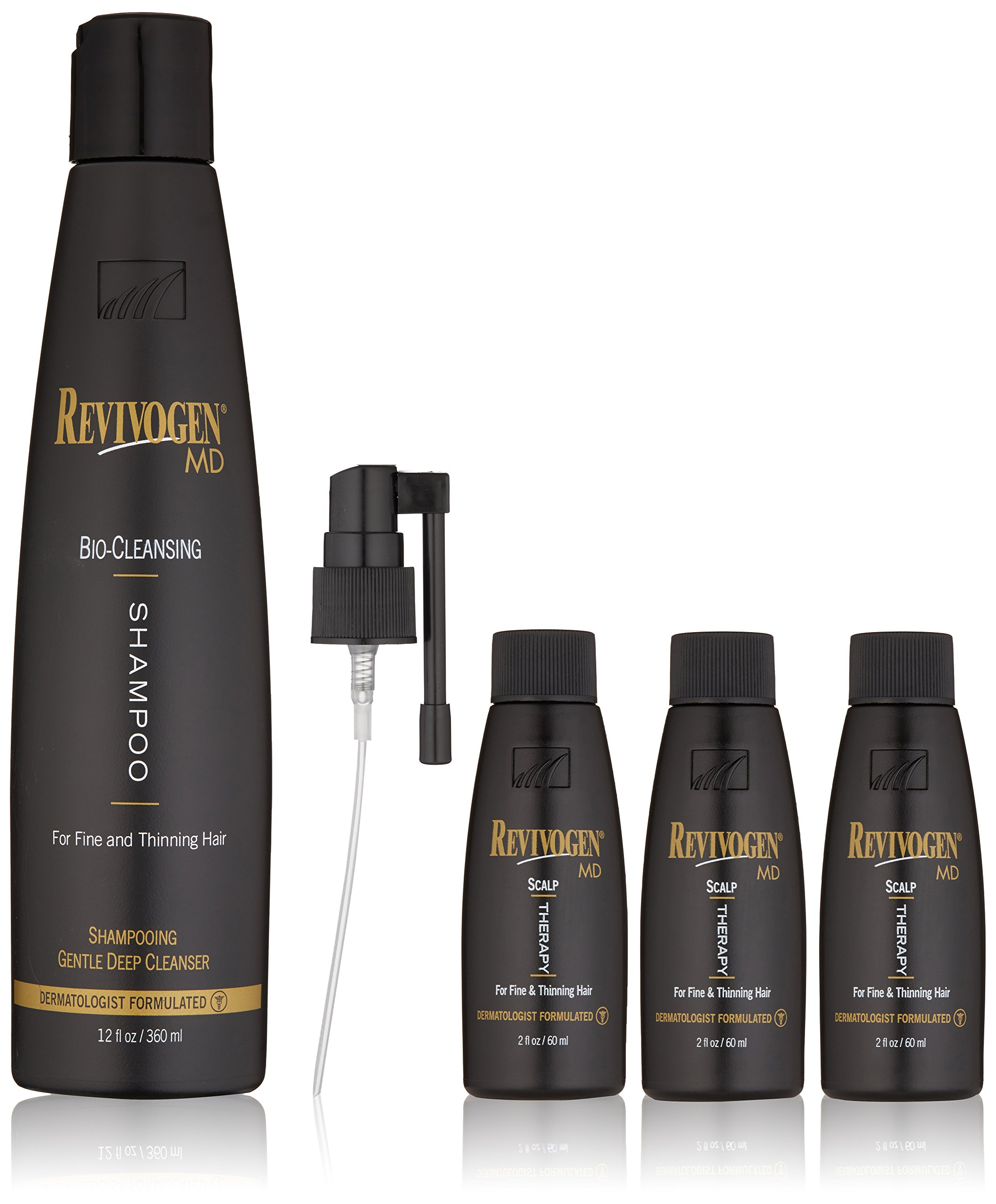 Revivogen MD Scalp Therapy Thinning Hair Solution and Bio-Cleansing Shampoo Set