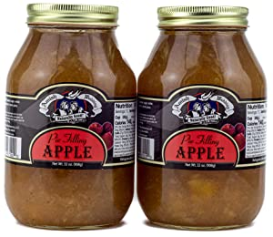 Amish Wedding Apple Pie Filling 32 Ounces (Pack of 2)
