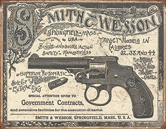 Tin Signs Protected By Smith /& Wesson nostalgisch geprägtes Blechschild