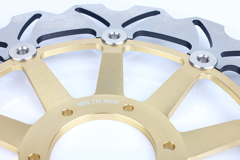 TARAZON Rotores de discos de freno delanteros para Honda VFR800F VFR800Fi Interceptor 1998-2009