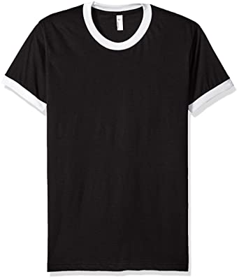 American Apparel Men's Poly-Cotton Short Sleeve Ringer T-Shirt ...