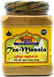 Rani Tea (Chai) Masala 16oz (1lb) 454g Bulk PET Jar ~ All Natural | Vegan | Gluten Friendly Ingredients | Salt & Sugar Free | NON-GMO | No Colors | Indian Origin