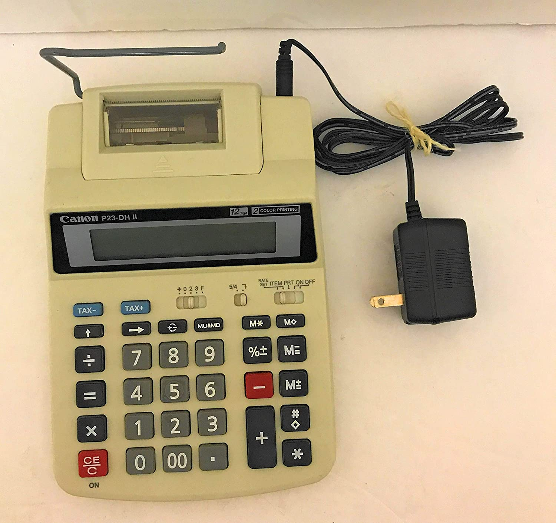 New Canon P23-DH V Mini Desktop 2 Color Printing Tax Calculator