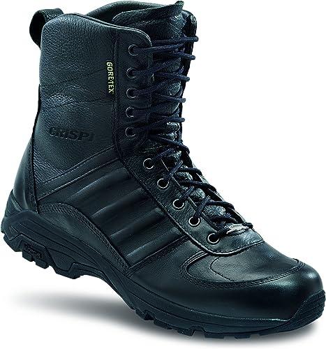 Anfibi militari crispi swat evo gtx, pelle pieno fiore idrorepellente (nero) 4516399