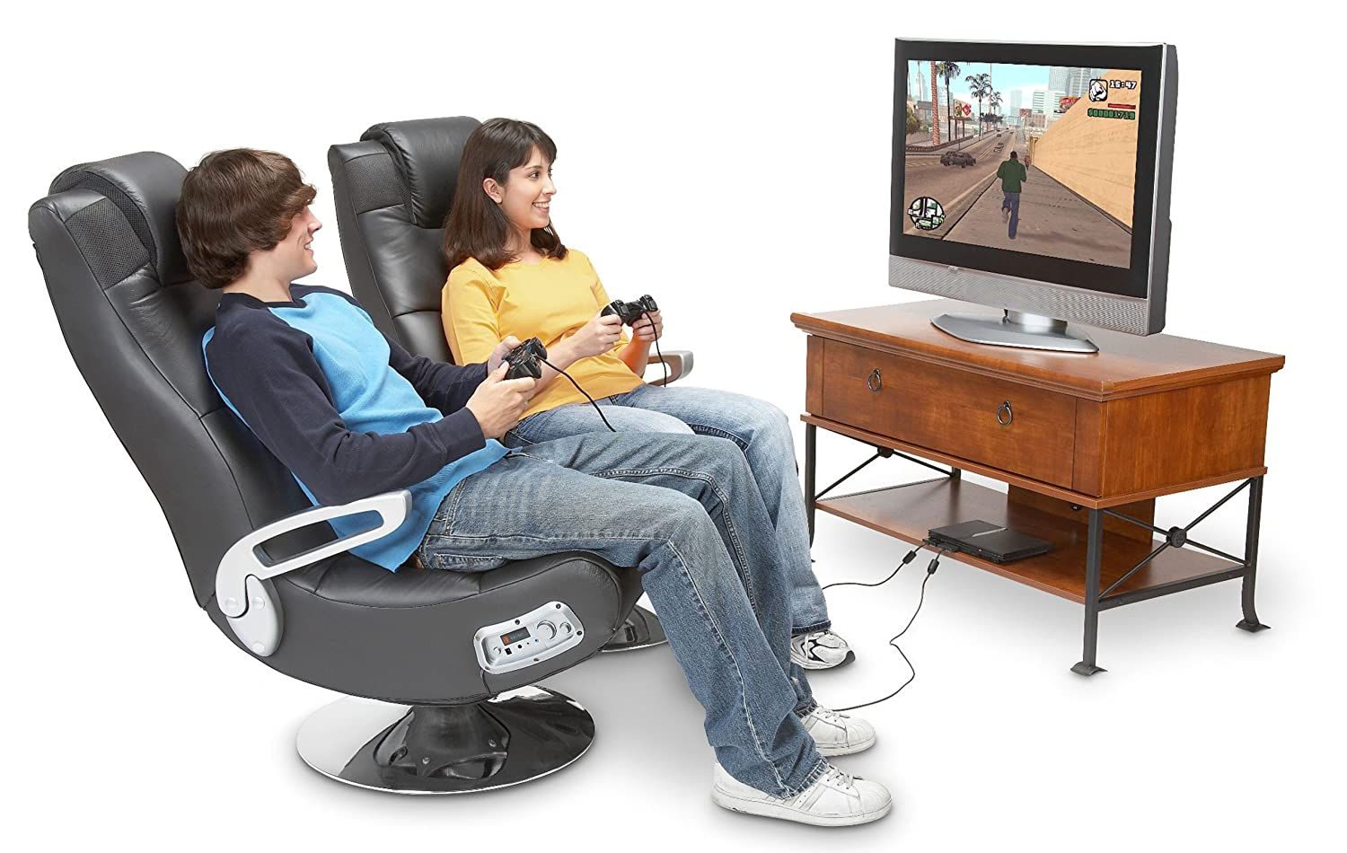 Amazon.com: X Rocker 5127401 Pedestal Video Gaming Chair, Wireless , Black:  Sports U0026 Outdoors