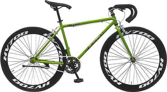 Helliot Bikes Fixie Brooklyn H36 Bicicleta Deportiva, Unisex Adulto, Verde, Estandar: Amazon.es: Deportes y aire libre
