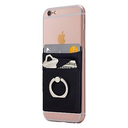 Amazon.com: Funda elástica para teléfono móvil con tarjetero ...